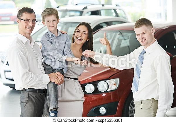 Family buying a car - csp15356301