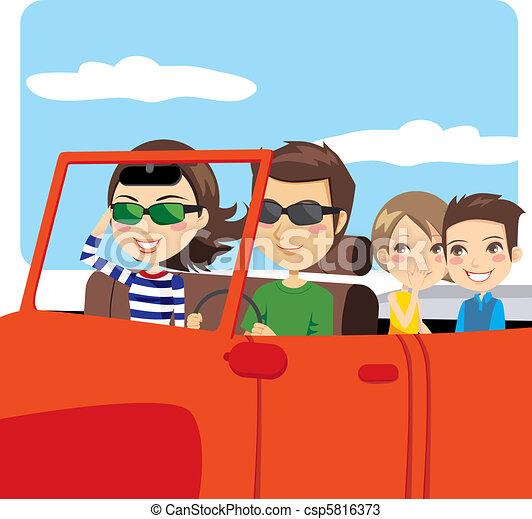 Family Car Excursion - csp5816373