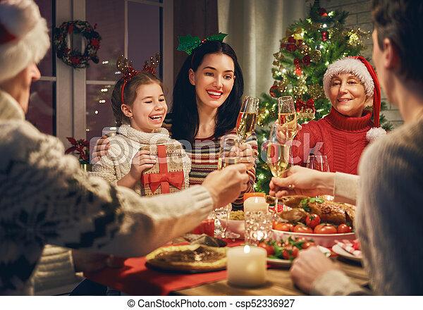 family celebrates christmas csp52336927 - Who Celebrates Christmas