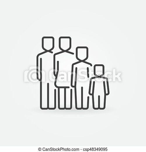 Family concept icon - csp48349095