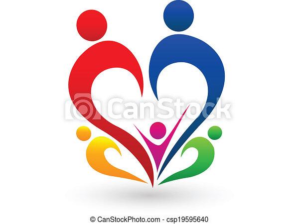 Family concept logo vector - csp19595640