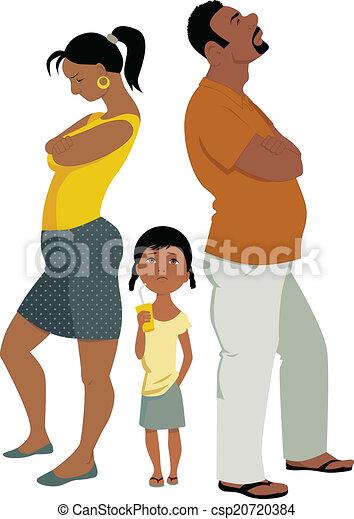 Family conflict affects children  - csp20720384