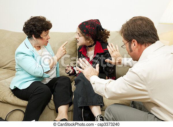 Family Counseling - Blame Daughter - csp3373240