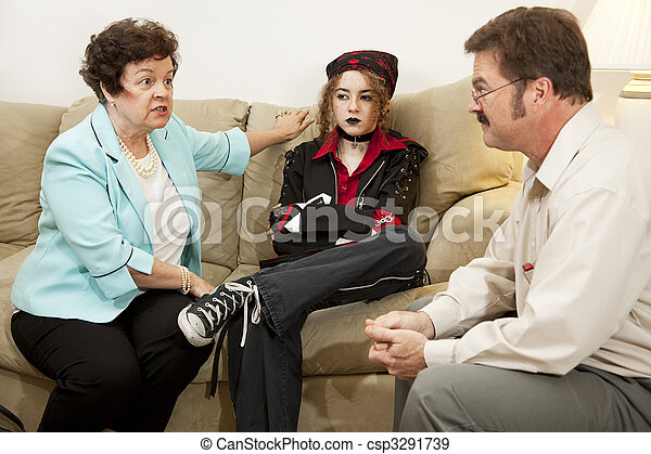 Family Counseling - She Drives Me Crazy - csp3291739