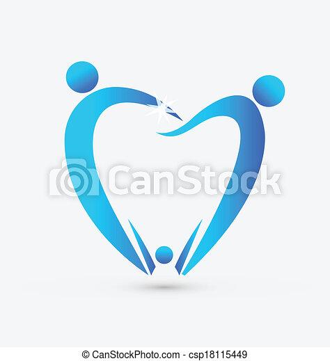 Family dentistry icon vector - csp18115449