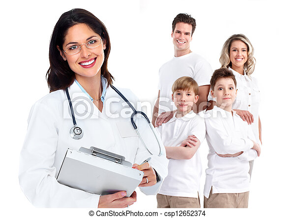 Family doctor woman. Health care. - csp12652374