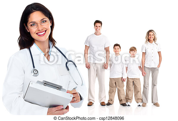 Family doctor woman. Health care. - csp12848096