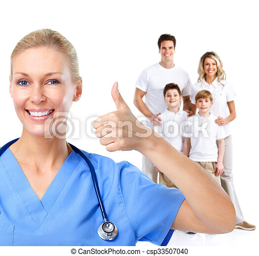 Family doctor woman. - csp33507040