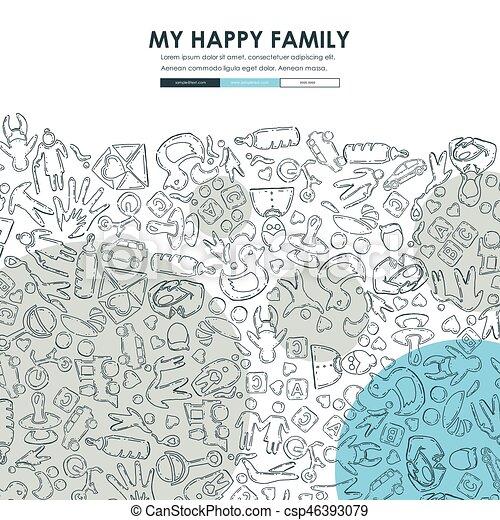 family doodle website template design family website template