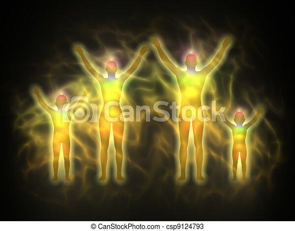 Family - energy body, aura - csp9124793