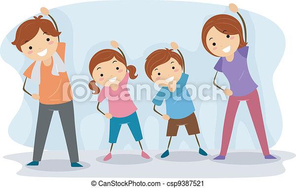 Family Exercise - csp9387521