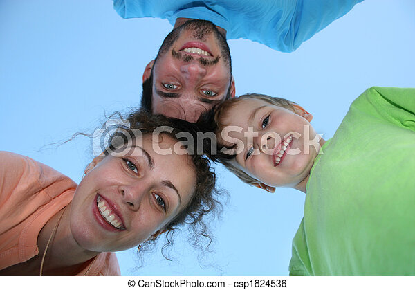 family faces on sky - csp1824536