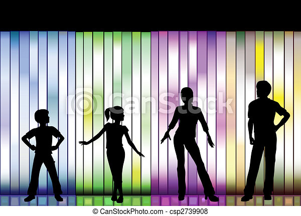 family fashion show on colorful background people in a family rh canstockphoto com indian fashion show clipart spring fashion show clipart