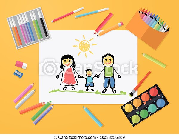 Family Felice Disegno Bambino Appartamento Tools Family