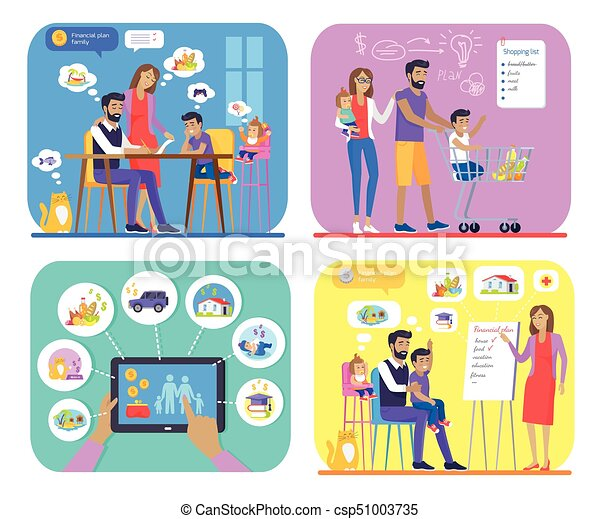family financial plan creating and approving set family plans their