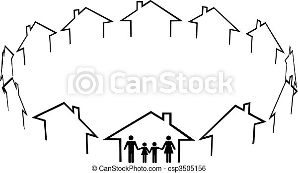 Family find home community neighbors houses - csp3505156