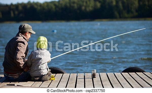 Family fishing - csp2337750