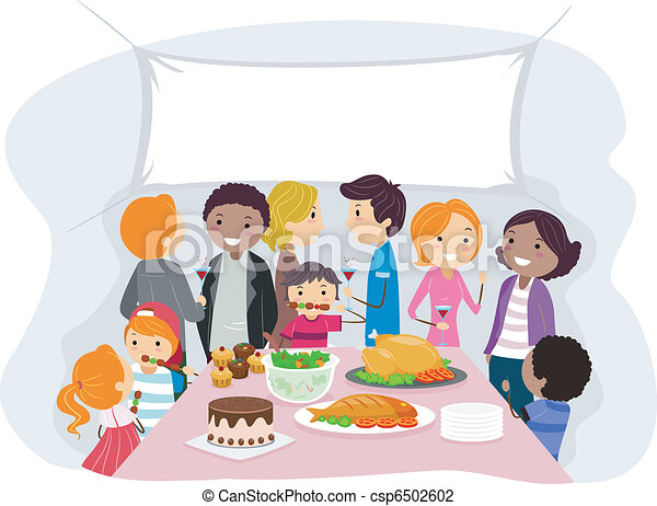 Illustration of a family gathering vector illustration search family gathering csp6502602 thecheapjerseys Image collections