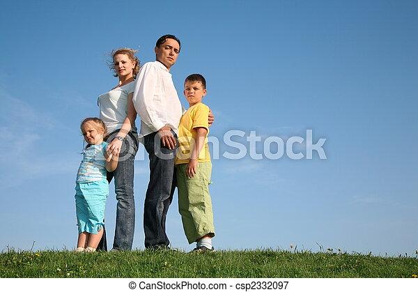 family grass sky - csp2332097