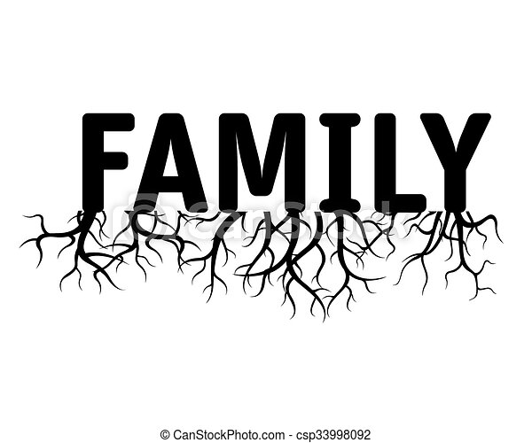 FAMILY Green Vector Illustration - csp33998092