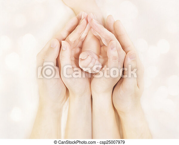 Family Hands And Baby New Born Arm Mother Father Children Body
