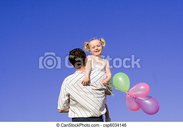 family, happy father and child - csp6034146