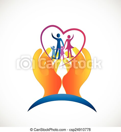 Family health care symbol logo - csp24910778