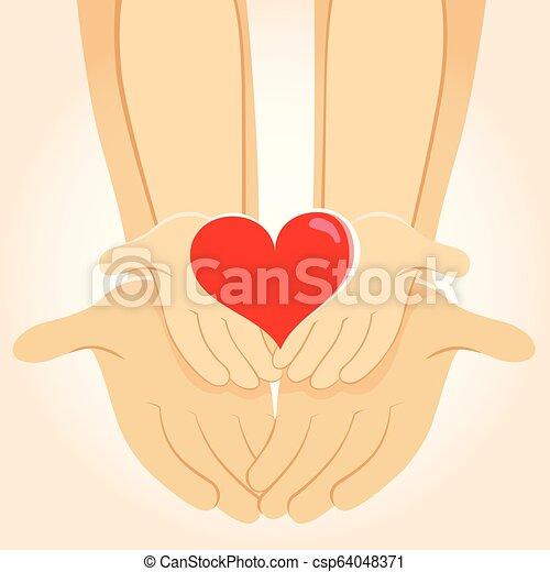 Family Heart Hands - csp64048371