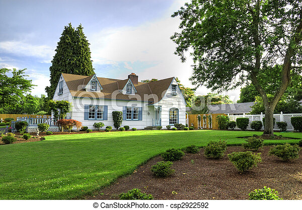 Family Home with Tree - csp2922592