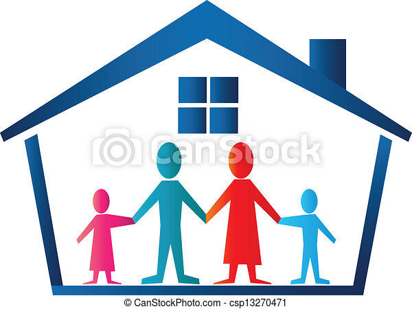 Family house logo vector - csp13270471
