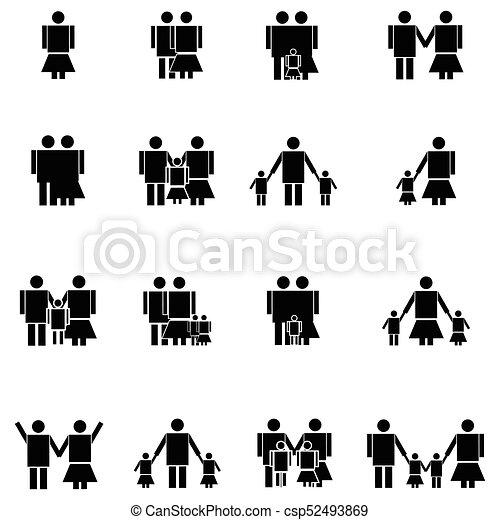 family icon set - csp52493869