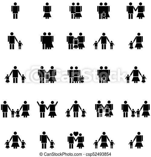 family icon set - csp52493854