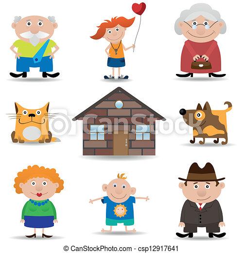 Family icon set - csp12917641