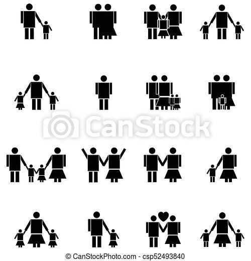 family icon set - csp52493840