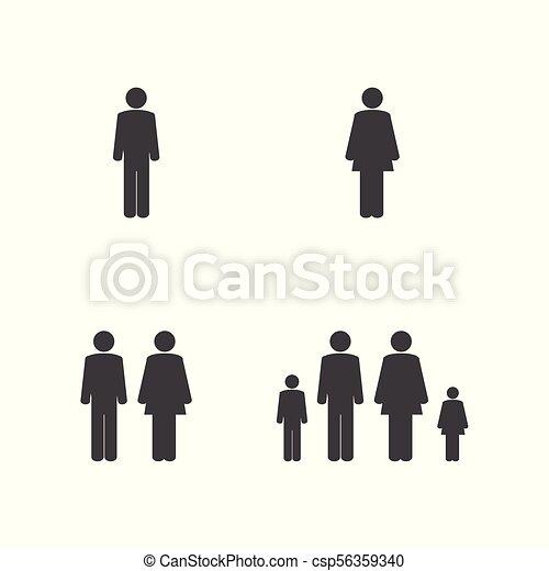 Family icon set - csp56359340