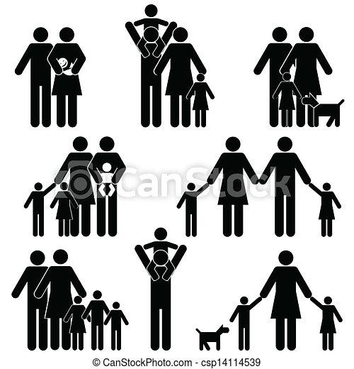 Family icon set - csp14114539