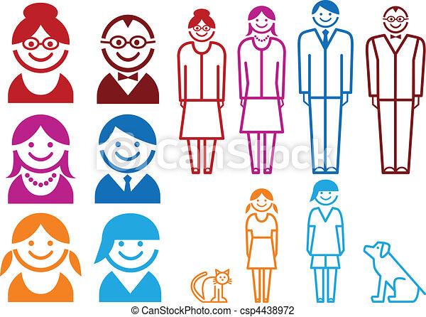 family icon set - csp4438972