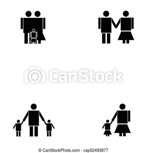 family icon set - csp52493877