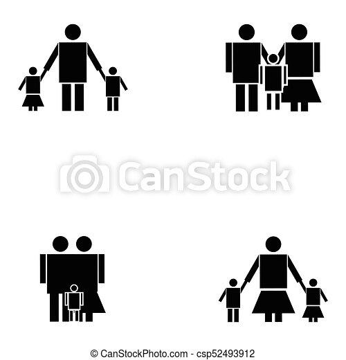 family icon set - csp52493912
