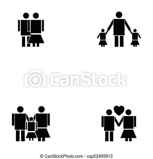family icon set - csp52493913