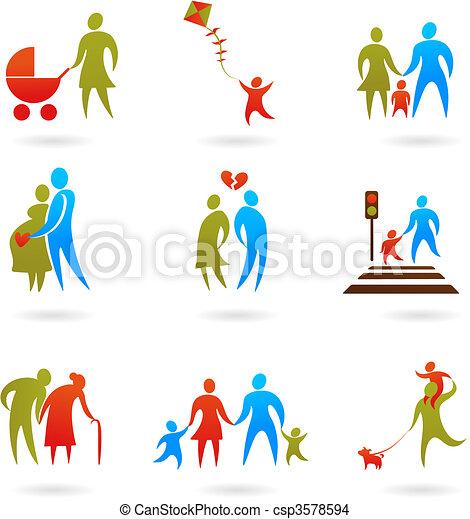 Family icons - 2 - csp3578594