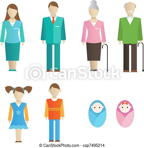 Family icons - csp7495214
