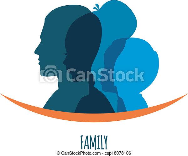 Family icons head - csp18078106