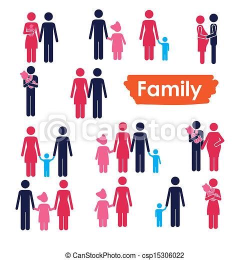 family icons  - csp15306022