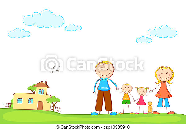 Family in Sweet Home - csp10385910