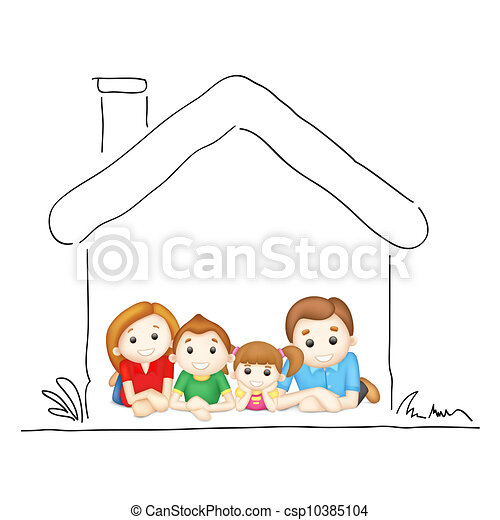 Family in Sweet Home - csp10385104