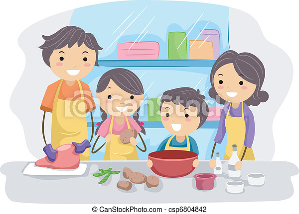 Family in the Kitchen - csp6804842