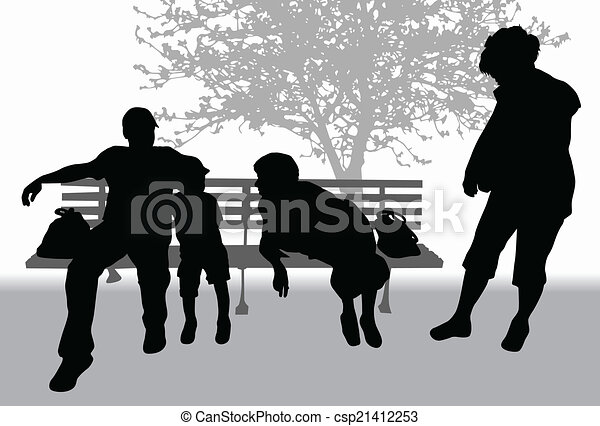 Family in the park - csp21412253