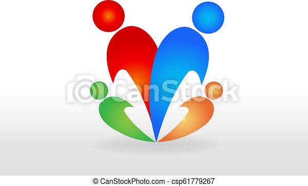 Family logo vector - csp61779267