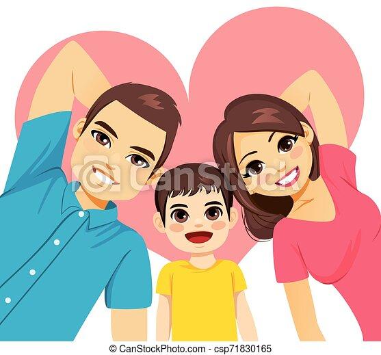 Family Lying On Floor - csp71830165